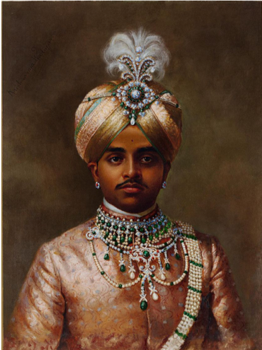 Portrait of the maharaja Sir Sri Krishnaraja Wodeyar Bahadur